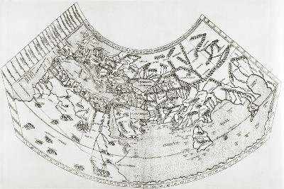 World Map from Ptolomy's Geographia, from 'The Quest for Cathay'-Sir Percy Sykes-Giclee Print
