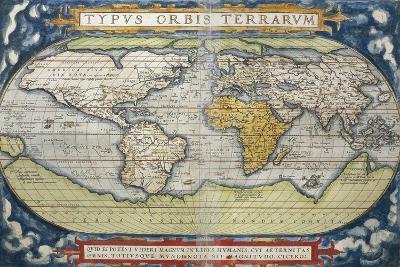 World Map from Theatrum Orbis Terrarum, 1570--Giclee Print
