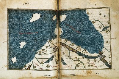World Map from Treatise of Geography, Circa 1099-1165, Manuscript--Giclee Print