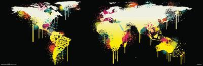 World Map-Graffiti