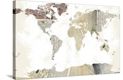 World Map I--Stretched Canvas Print