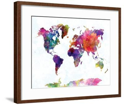World Map II Watercolor