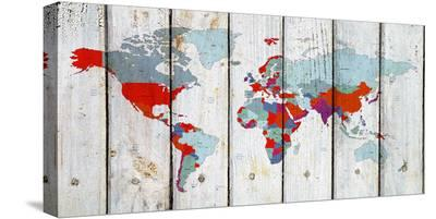 World Map Ix--Stretched Canvas Print