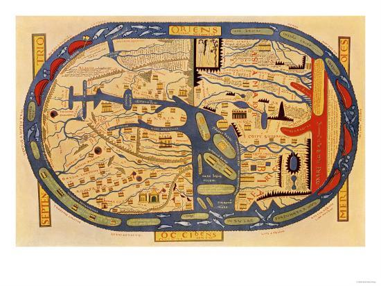World map of the flat earth printed by beatus rhenanus bildaus world map of the flat earth printed by beatus rhenanus bildaus rheinau 16th century gumiabroncs Gallery