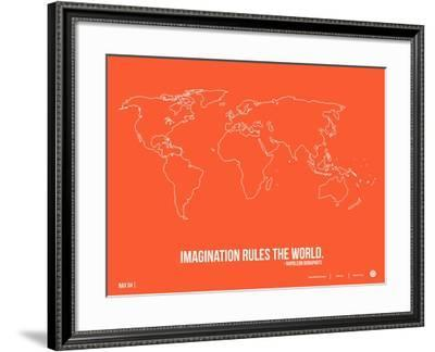 World Map Quote Poster 3-NaxArt-Framed Art Print