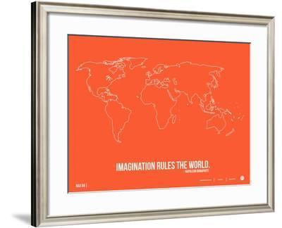 World Map Quote Poster 3-NaxArt-Framed Art Print