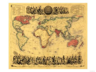 World Map Showing British Empire - Panoramic Map-Lantern Press-Art Print