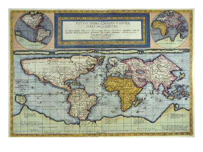 World Map, Totus Orbis Cogniti Universalis-Gerard De Jode-Giclee Print