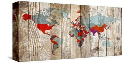 World Map VII--Stretched Canvas Print
