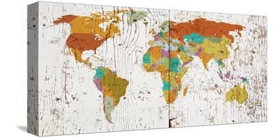 World Map VIII--Stretched Canvas Print