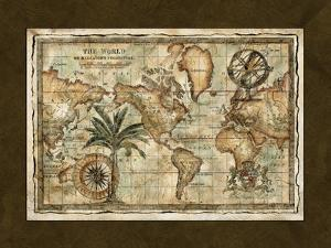 World maps artwork for sale paintings and prints at art world map with globe art print gumiabroncs Images