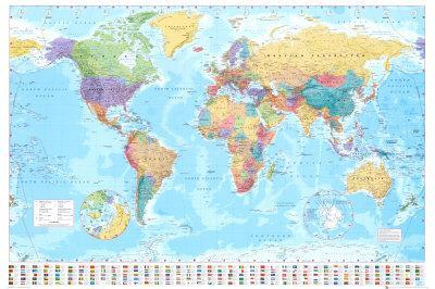 World Map Poster By Art Com