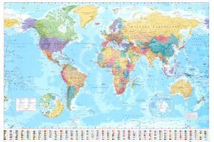 Beautiful world maps artwork for sale posters and prints art world map gumiabroncs Choice Image