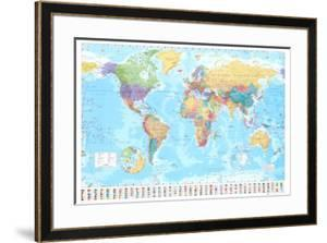 Beautiful World Maps framed-posters artwork for sale, Posters and ...