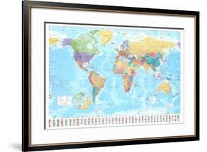 World maps framed posters artwork for sale posters and prints at world map gumiabroncs Image collections