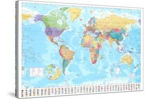 World maps canvas artwork for sale posters and prints at art world map gumiabroncs Images
