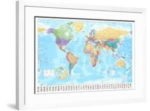 Beautiful world maps framed posters artwork for sale posters and world map gumiabroncs Image collections