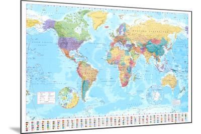 World Map--Mounted Print