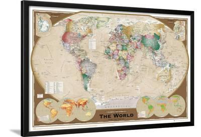 World Map--Lamina Framed Poster