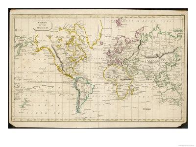 World Map--Premium Giclee Print
