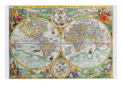 World Map-Petrus Plancius-Art Print