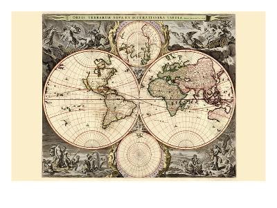 World Map-Nicolao Visscher-Art Print