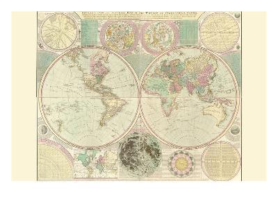 World Map-Carington Bowles-Art Print