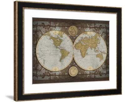 World Map-Elizabeth Medley-Framed Premium Giclee Print