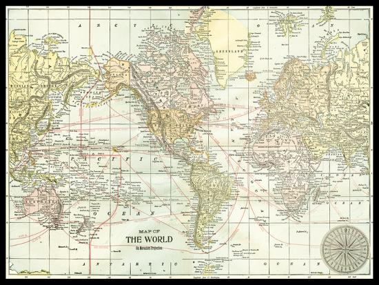 World Map--Art Print