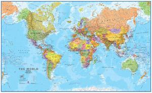 Beautiful world maps artwork for sale posters and prints art world megamap 120 wall map laminated educational poster gumiabroncs Choice Image