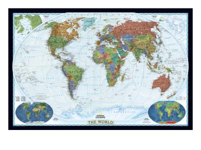 World Political Map, Decorator Style-National Geographic Maps-Premium Giclee Print