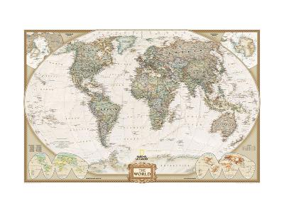 World Political Map, Executive Style--Art Print
