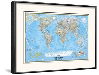 National Geographic World Political Map.World Political Map Framed Art Print By National Geographic Maps