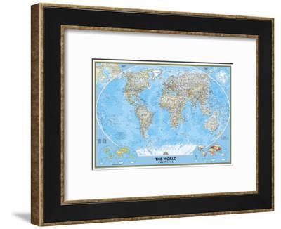 World Political Map-National Geographic Maps-Framed Art Print
