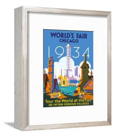 World's Fair Chicago 1934 - Tour the World at the Fair-Weimer Pursell-Framed Art Print