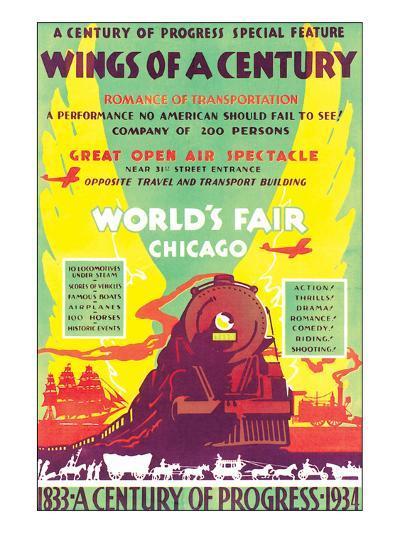 World's Fair, Chicago, Wings of a Century, c.1934--Art Print