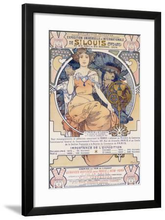 World's Fair, St. Louis, Missouri, 1904-Alphonse Mucha-Framed Giclee Print