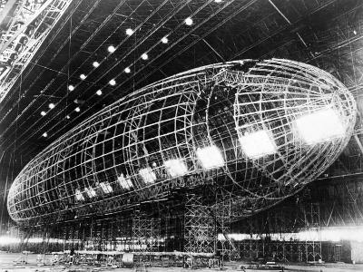 World's Largest Dirigible Near Completion, Published 1930S--Giclee Print