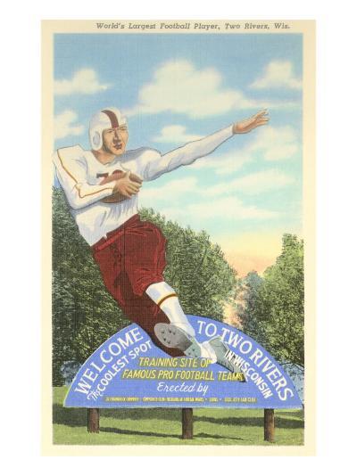 World's Largest Football Player Sign--Art Print