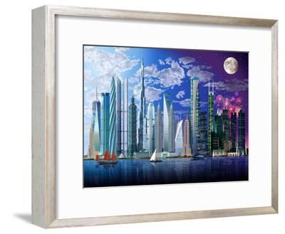 World's Tallest Buildings-Garry Walton-Framed Art Print