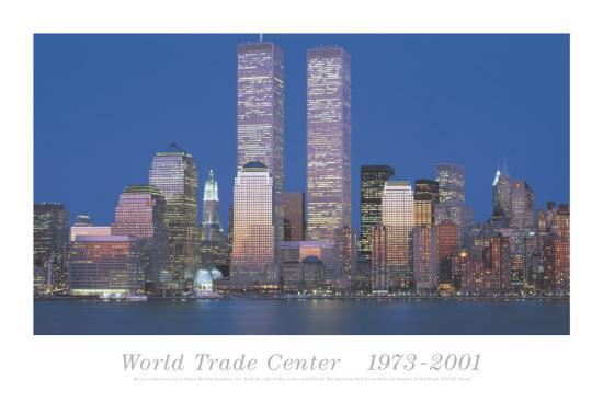 World Trade Center 1973-2001-Richard Berenholtz-Art Print