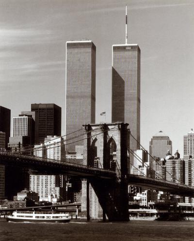 World Trade Center and Brooklyn Bridge-Walter Gritsik-Art Print