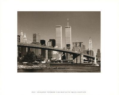 World Trade Center over Brooklyn Bridge-Igor Maloratsky-Art Print
