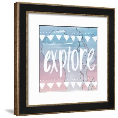 World Traveler Explore-Sara Zieve Miller-Framed Art Print