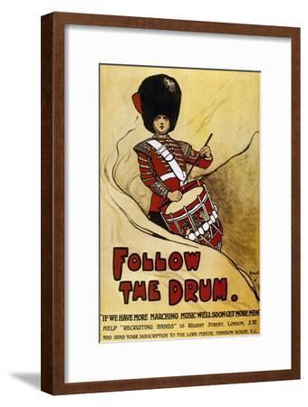 World War (1914-1918). Poster 'Follow the Drum'