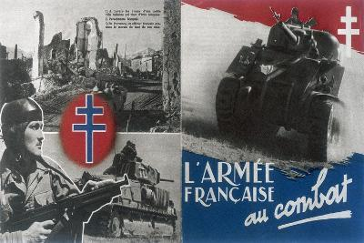 World War 2: Free French Propaganda Poster C1942-1944--Giclee Print