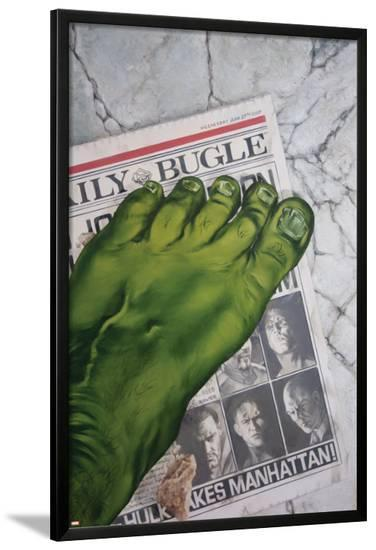World War Hulk: Front Line No.1 Cover: Hulk--Lamina Framed Poster