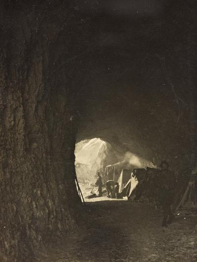 World War I: A Small Tunnel in the Rock on the Road Fork Bois--Photographic Print