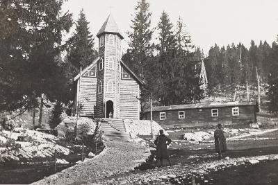 World War I: Church of a Austrian Small Hospital in the Rosato Field--Photographic Print