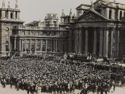World War I: Crowd Attends an Official Event at Blenheim Palace in Woodstock--Photographic Print